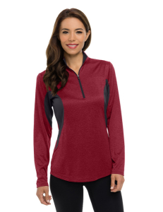 Lady Sprinter Women's Heather 1/4-Zip Performance Pullover