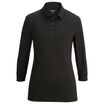 Ladies' Optical Heather Polo 3/4 Sleeve